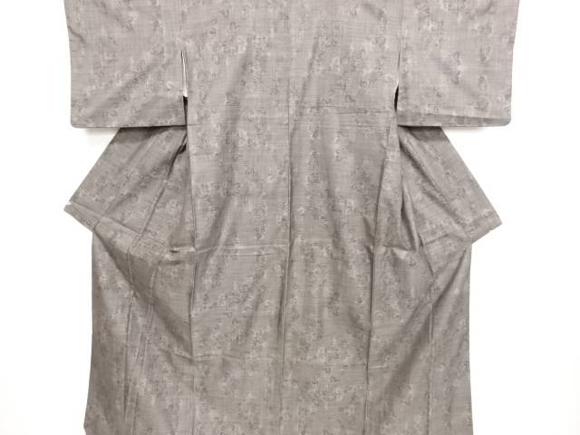 リサイクル 花模様織り出し本場泥大島紬着物(9マルキ)【送料無料】