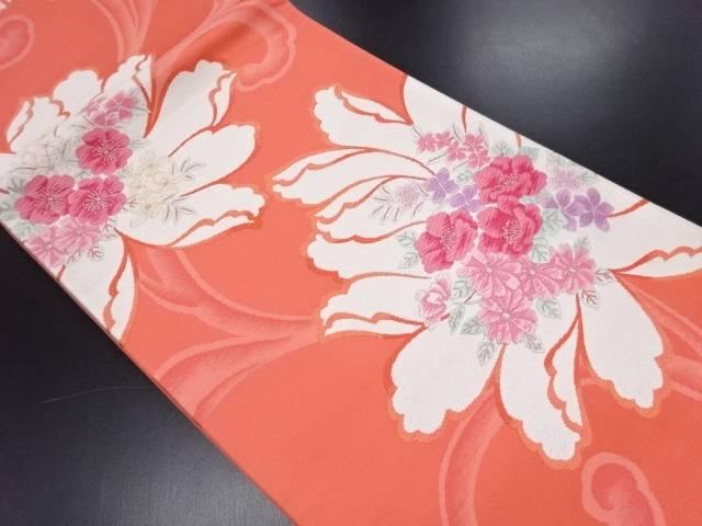 リサイクル 花模様織り出し袋帯【送料無料】
