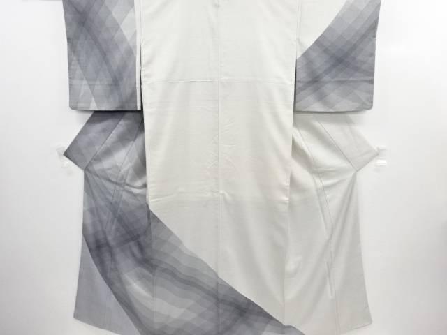 リサイクル 生紬抽象模様一つ紋訪問着【送料無料】