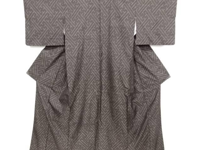リサイクル 紗綾型織り出し本場泥大島紬着物【送料無料】