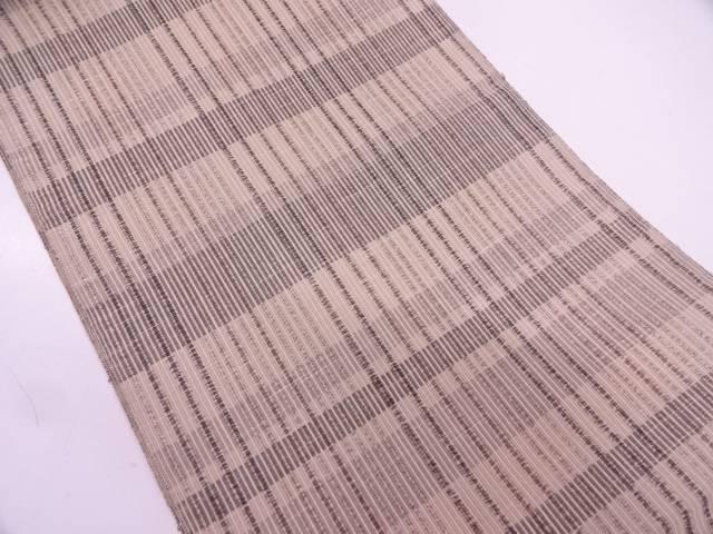 リサイクル 格子縞模様織出し名古屋帯【送料無料】
