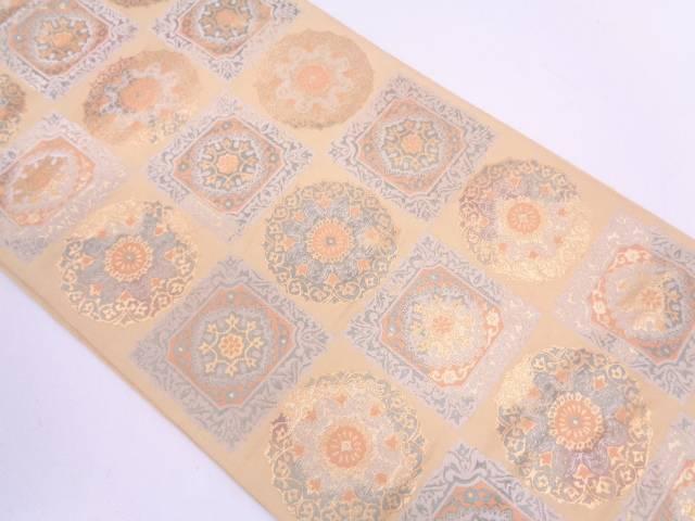 【セール30%オフ】リサイクル 花模様織出し袋帯【送料無料】