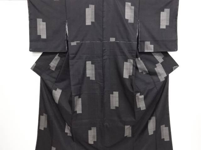 リサイクル 短冊模様織り出し本場泥大島紬着物(5マルキ)【送料無料】