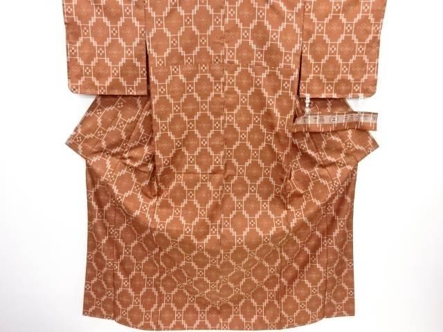 未使用品 仕立て上がり 本場琉球絣手織り紬着物【送料無料】