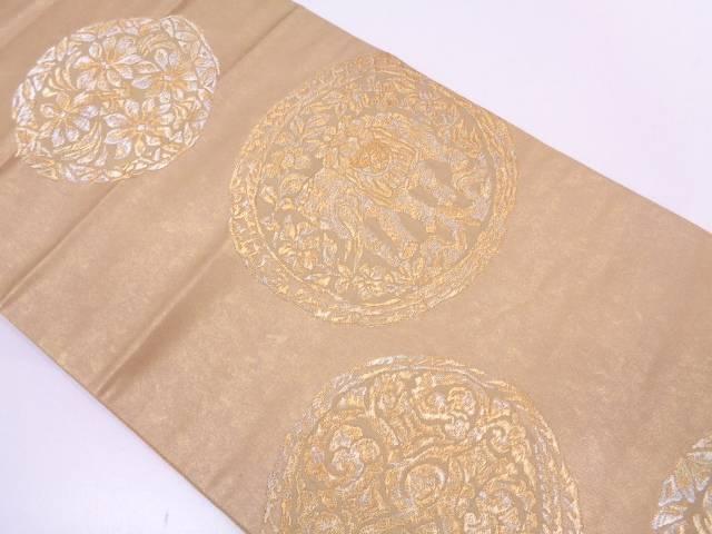 【セール30%オフ】リサイクル 本漆本金箔絵皿に象・草花模様織出し袋帯【送料無料】