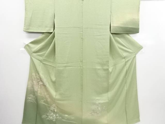 リサイクル 汕頭蘇州刺繍茶屋辻模様一つ紋訪問着【送料無料】