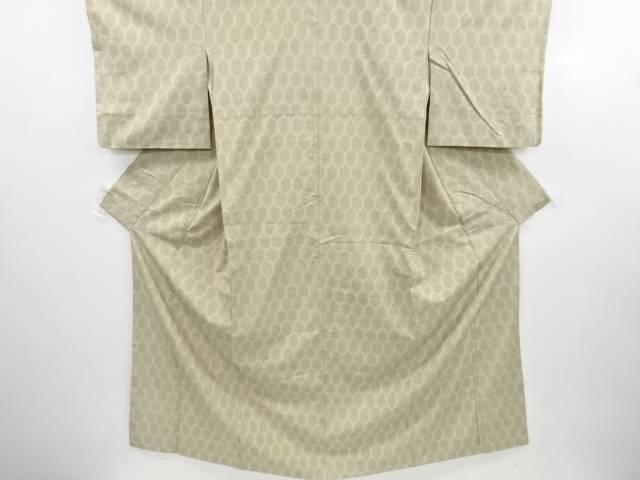 リサイクル 亀甲模様織り出し本真綿結城紬着物【送料無料】