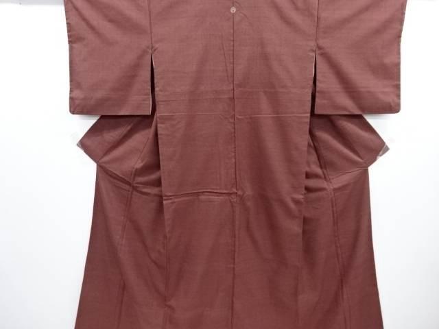 リサイクル 手織り真綿紬一つ紋着物【送料無料】