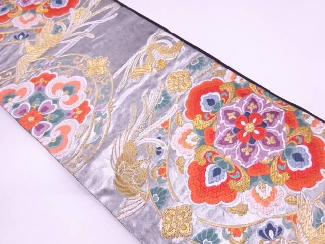 【セール30%オフ】リサイクル 藤沢機業製 引箔花鳥模様織出し袋帯【送料無料】