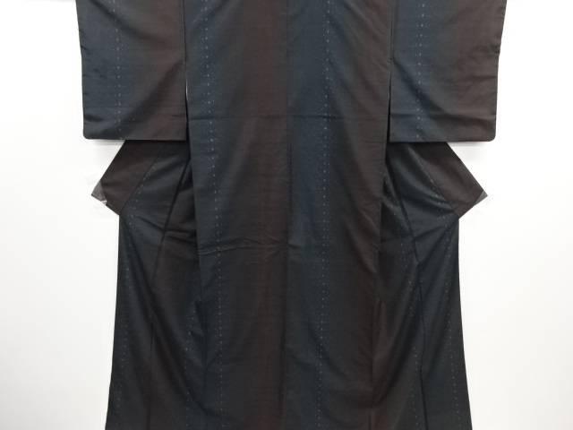 リサイクル 十字模様織り出し本場泥大島紬着物(7マルキ)【送料無料】