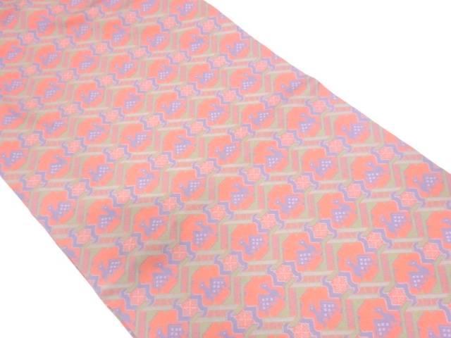 リサイクル 龍村美術織物製 有栖川模様織出し開き名古屋帯(額縁仕立て)【送料無料】