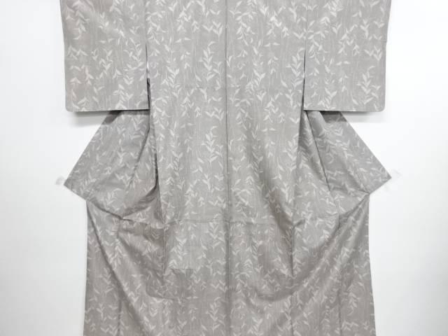 リサイクル 草花模様織り出し手織り紬着物【送料無料】