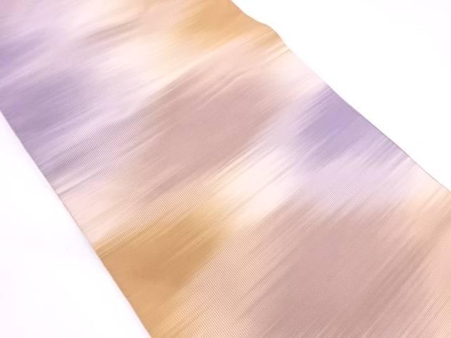 リサイクル 安田織鴻製 瓜掻本綴抽象模様織出し開き名古屋帯【送料無料】