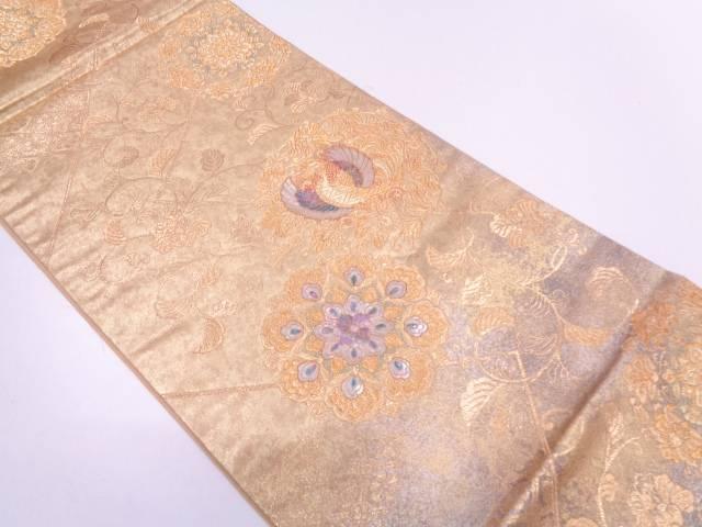 【セール30%オフ】リサイクル 引箔螺鈿裂取玉華文織出し袋帯【送料無料】