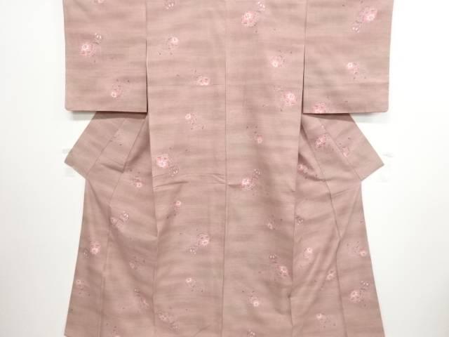 リサイクル 毬模様織り出し暈し手織り紬着物【送料無料】