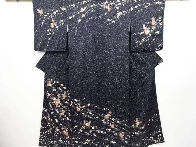 リサイクル 枝垂れ桜に花籠模様刺繍訪問着【送料無料】