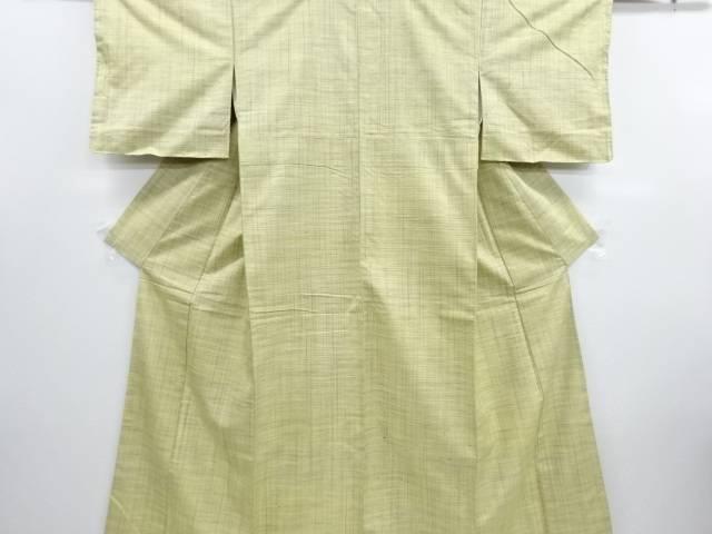 リサイクル 未使用品 格子織り出し手織り節紬着物【送料無料】