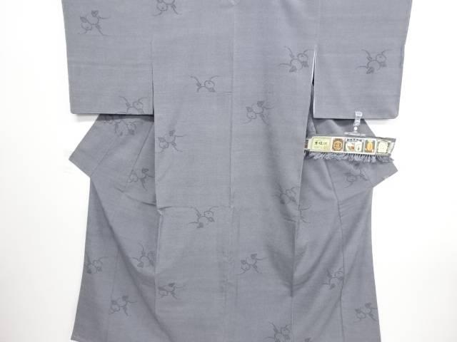 リサイクル 未使用品 万寿菊模様織り出し本塩沢着物【送料無料】