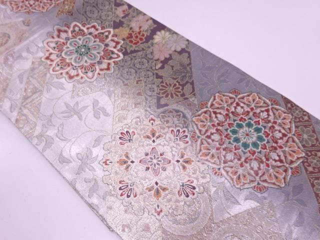 【セール30%オフ】リサイクル 華紋模様織出し袋帯【送料無料】