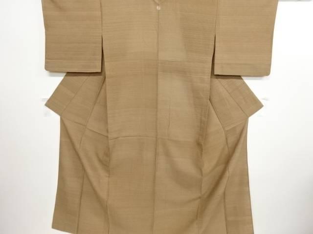 リサイクル 紗紬透かし織横段模様織り出し一つ紋着物【送料無料】