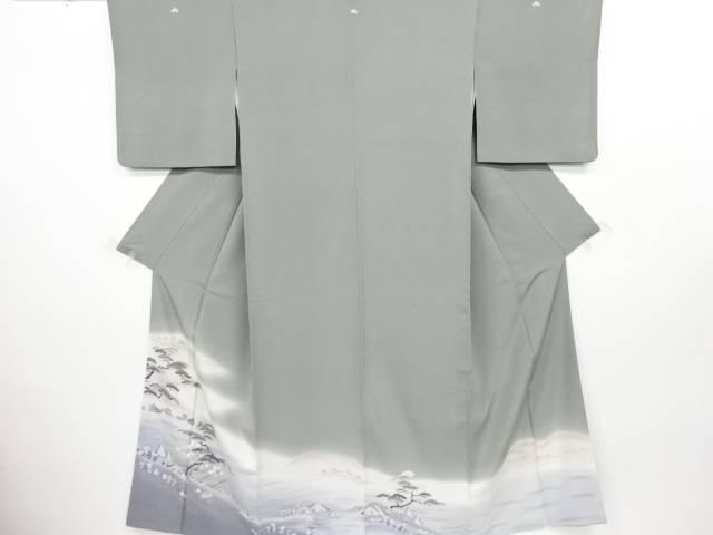 リサイクル 手描友禅 松に小舟模様三つ紋色留袖【送料無料】