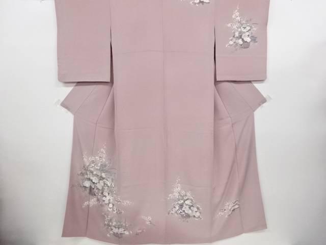 リサイクル 蘇州刺繍 花籠模様訪問着【送料無料】