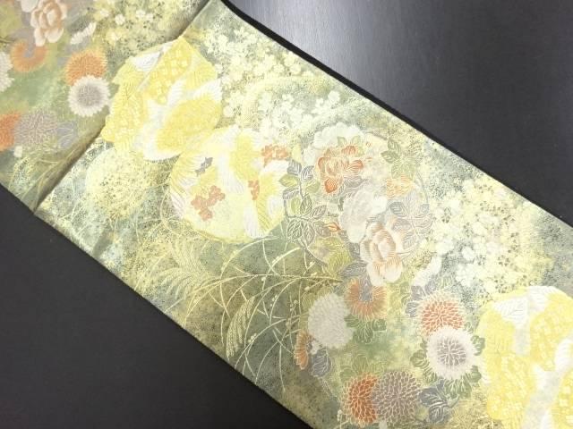 リサイクル となみ織物製 本金 花丸文織り出し袋帯【送料無料】