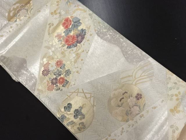 リサイクル 琳派裂取文織り出し袋帯【送料無料】