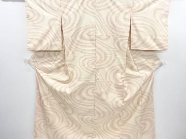 リサイクル 流水模様織り出し手織り真綿紬着物【送料無料】