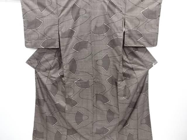 リサイクル 未使用品 地紙に亀甲・線描き模様織り出し本場泥大島紬着物(5マルキ)【送料無料】