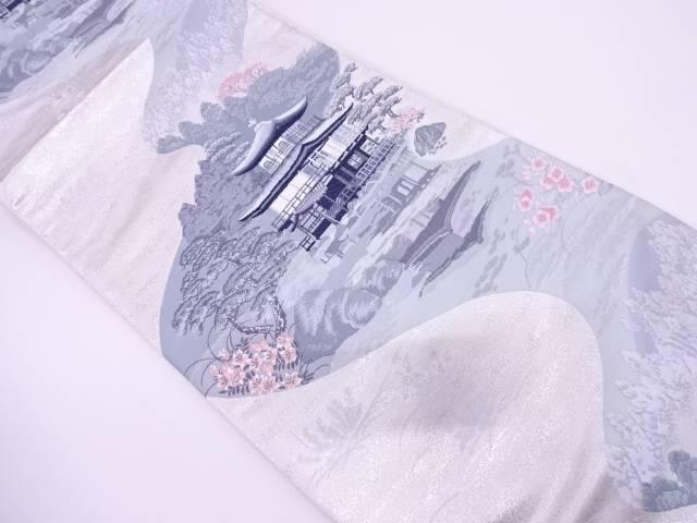 リサイクル 金閣寺風景模様織出し袋帯【送料無料】