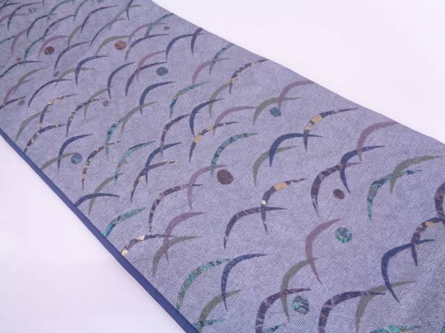 【セール30%オフ】リサイクル 作家物 螺鈿露芝模様織出し袋帯【送料無料】