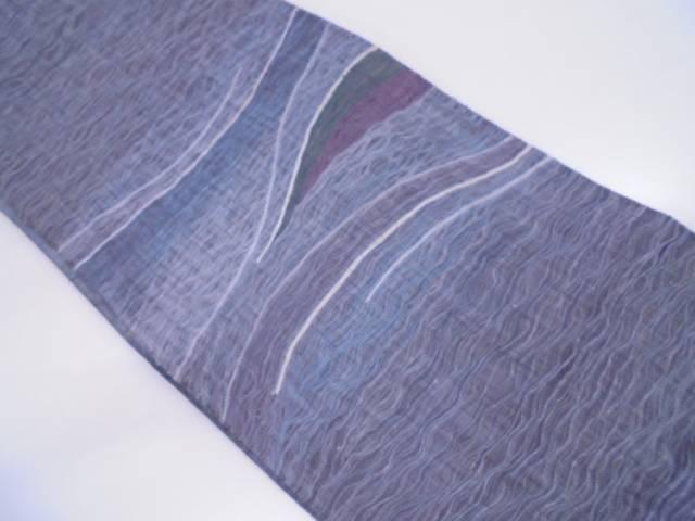 リサイクル すくい織波模様織出し袋帯【送料無料】