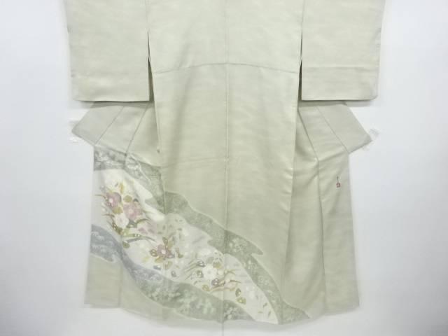 リサイクル 作家物 霞に椿模様暈し三つ紋色留袖【送料無料】
