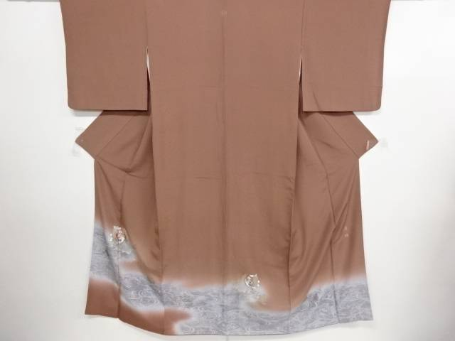 リサイクル 作家物 流水に桐鳳凰模様刺繍一つ紋色留袖【送料無料】