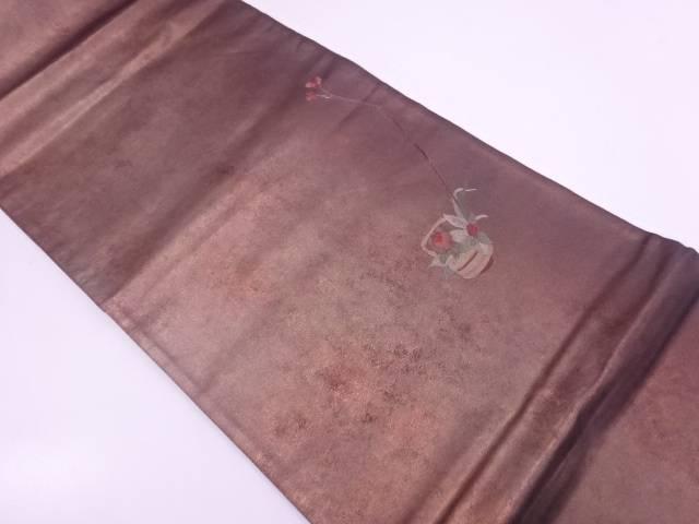 【セール30%オフ】リサイクル 蘇州刺繍手桶に花模様袋帯【送料無料】