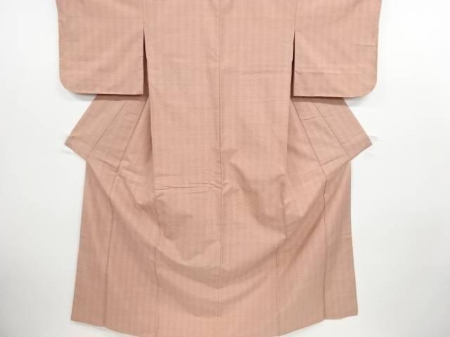 リサイクル 十字模様織り出し手織り紬着物【送料無料】
