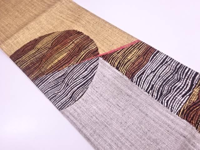 リサイクル 未使用品 すくい織抽象模様織出し袋帯 【送料無料】