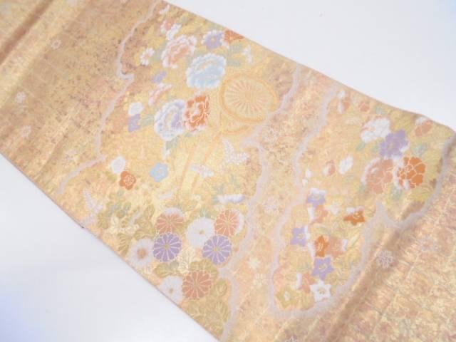 【セール30%オフ】リサイクル 服部織物製 雲取り花車文様織出し袋帯【送料無料】