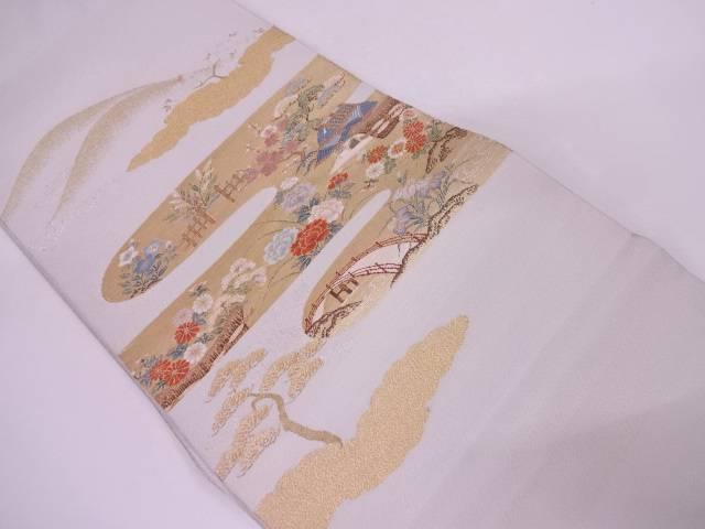 【セール30%オフ】リサイクル 綴れ茶屋辻模様織出し袋帯【送料無料】