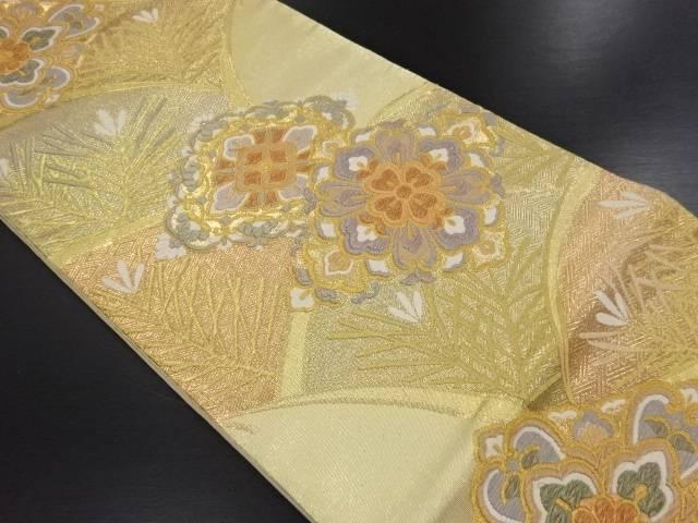 リサイクル 本金松葉青海波に菱華紋織り出し袋帯【送料無料】