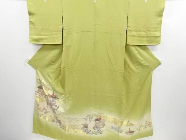 リサイクル 寿光織祇園祭模様織り出し五つ紋色留袖(比翼付き)【送料無料】