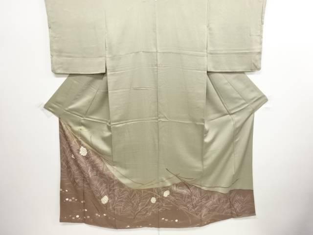 リサイクル 金彩友禅松梅に松ぼっくり模様刺繍一つ紋訪問着【送料無料】