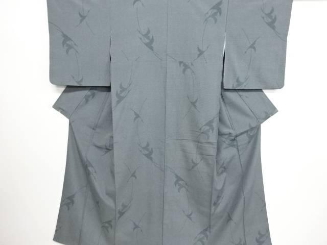 リサイクル 群鶴模様織り出し本塩沢100亀甲着物【送料無料】