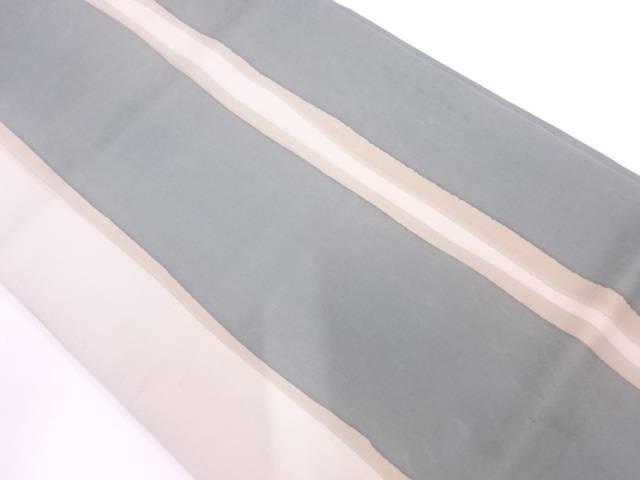 リサイクル 塩瀬変わり縞模様開き名古屋帯(額縁仕立て)【送料無料】
