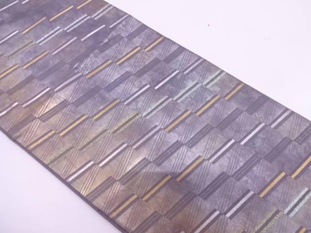 リサイクル 縞に斜め横段模様織出し袋帯【送料無料】