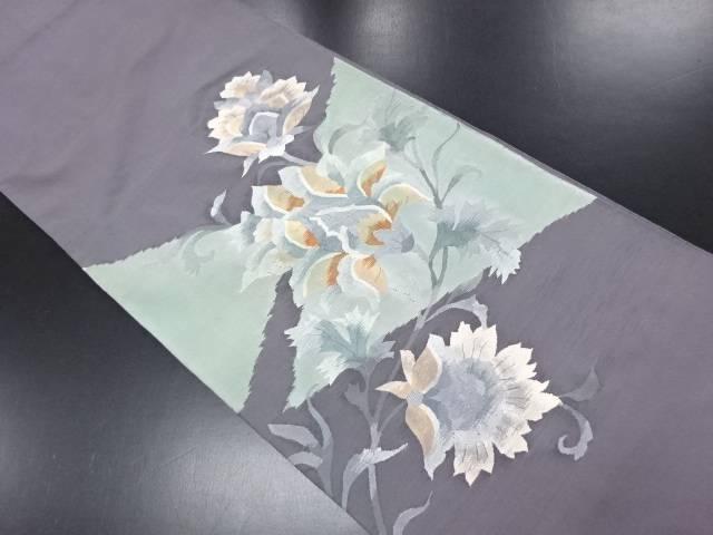 リサイクル 綴れ 唐花模様織り出し袋帯【送料無料】