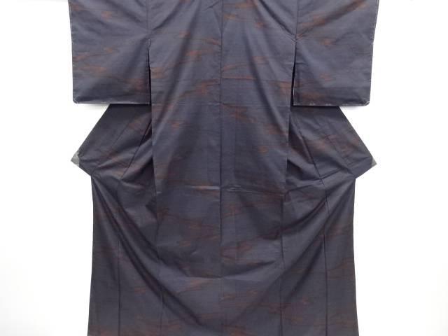 未使用品 仕立て上がり 霞模様織り出し本場泥大島紬着物(7マルキ)【送料無料】