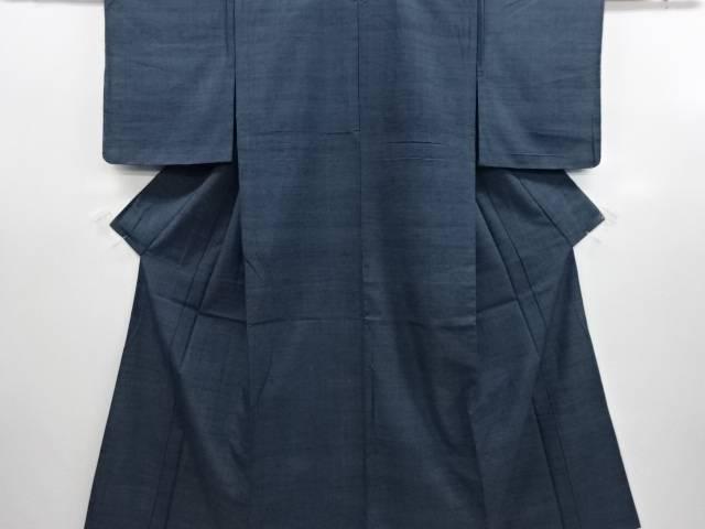 リサイクル 未使用品 草木染 手織り真綿紬単衣着物【送料無料】