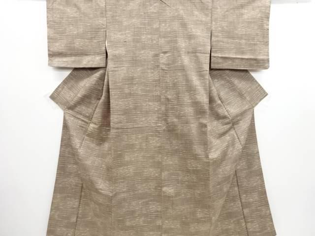 リサイクル 霞模様織り出し手織り真綿紬着物【送料無料】